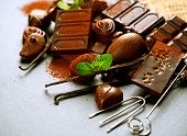 foto of mints  - Chocolates background - JPG