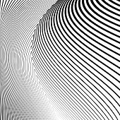 image of distort  - Design monochrome lines movement illusion background - JPG