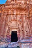 stock photo of petra jordan  - Beautiful The Renaissance Tomb in Petra Jordan - JPG