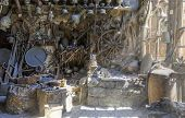 picture of household  - Antique shop in the village household items Lahij Azerbaijan - JPG
