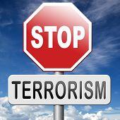 pic of terrorist  - no terrorism war on terror stop terrorist attacks - JPG