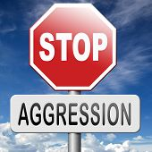 pic of stop fighting  - stop aggression and violence no fighting prevent Physical or verbal aggressivity - JPG