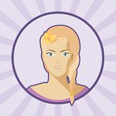 picture of single woman  - Single vector woman avatar in flat style - JPG