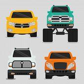 pic of monster-truck  - Vehicle design over white background - JPG
