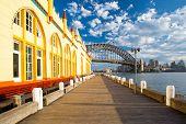 picture of cbd  - A view towards Sydney CBD from a boardwalk next to Luna Park in Sydney - JPG