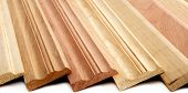 picture of combinations  - Combination of Wooden Skirting boards over white - JPG