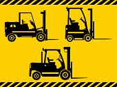 picture of heavy equipment  - Detailed illustration of forklifts - JPG