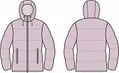 stock photo of down jacket  - Vector illustration of winter quilted down jacket - JPG