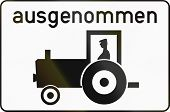 image of traffic rules  - Austrian traffic sign additional panel to specify the meaning of other signs - JPG