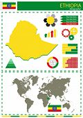 foto of nationalism  - vector Ethiopia illustration country nation national culture - JPG