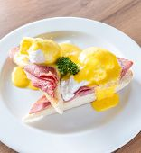 foto of benediction  - Eggs Benedict breakfast - JPG
