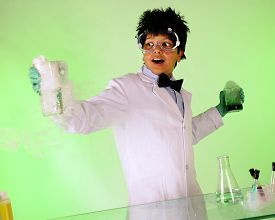 pic of mad scientist  - A young  - JPG