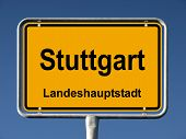 Common city sign of Stuttgart, Germany