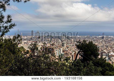 Barcelona skyline with