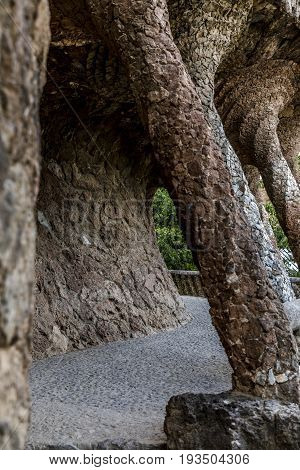 Passage with pillars