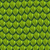 Постер, плакат: большое изображение зеленый блестящий dragon весы или скрыть