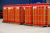 Red Gas Cylinders