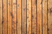 Close Up Of Weathered Wooden Garden Decking. poster