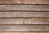 Weathered Wooden Fence Panels Background. poster