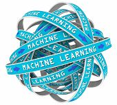 Machine Learning Process Loops Input AI Artificial Intelligence 3d Illustration poster