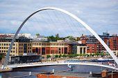 picture of tyne  - Millenium Bridge in Newcastle on a river Tyne - JPG
