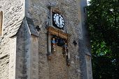 Clock On Carfax Tower Ardoned By
