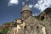 medieval armenian church in Geghard monastery, Armenia
