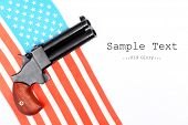 picture of derringer pistol  - An 2 shot  - JPG