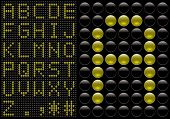 score board style letters