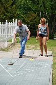Retired Couple- Shuffleboard