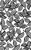 Black leaves pattern background.