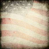 image of usa flag  - Patriotic vintage heavy background - JPG