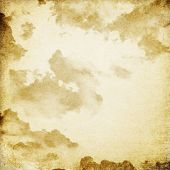 Cloudy sky. Photo in vintage image style.