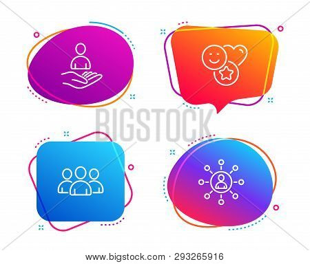 Group Recruitment And Smile Icons
