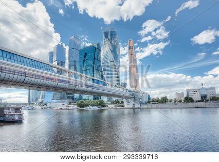 City Landscape With Skyscrapers Moscow
