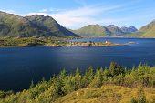 Norway Landscape - Sildpollnes Church In Vestpollen, Lofoten Islands. poster