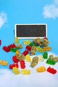 Marijuana Edibles. Cannabis Edibles. CBD Gummy Bears. THC Gummy Candies. Edible Marijuana. Recreatio poster