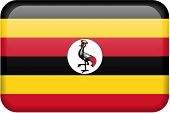 Uganda Flag Button