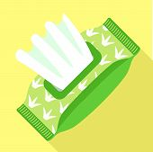 Wet Wipes Pack Icon. Flat Illustration Of Wet Wipes Pack Vector Icon For Web Design poster
