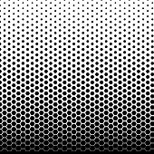 Halftone Fade Gradient Background. Black And White Comic Backdrop. Monochrome Points Vector. poster