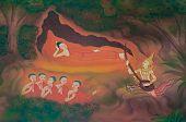 Buddha Biographie: Erstens fünf Anhänger.