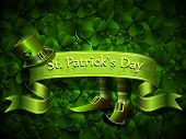 stock photo of saint patricks day  - abstract illustration to the day of saint Patrick - JPG