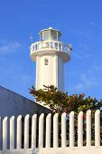 Puerto morelos new lighthouse in Mayan Riviera Mexico