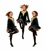 Irish Dancers Trio Performing