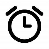Alarm Clock Icon Isolated On White Background. Alarm Clock Icon Modern Symbol For Graphic And Web De poster