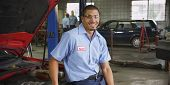 pic of auto repair shop  - Portrait of auto shop mechanic - JPG