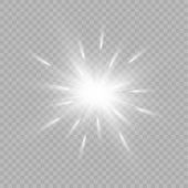 Light Flare Special Effect With Rays Of Light And Magic Sparkles. Glow Transparent Vector Light Effe poster