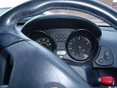Black Dashboard With Red Key