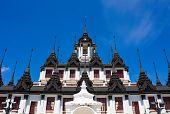 Loha Prasat Metal Palace In Bangkok Thailand