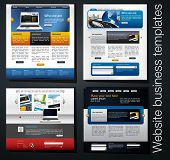 exclusive website business templates, set 4